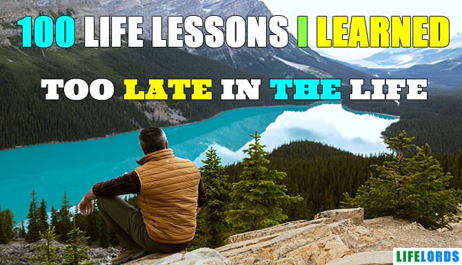 lessons learned in life