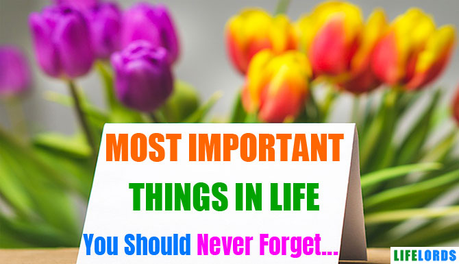 Most Important Things in Life