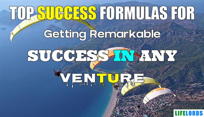 Success Formulas For Getting Success